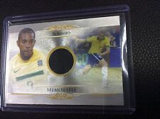 2014 Futera Unique Memorable Robinho 3/11 SP parallel Game Used Jersey Brazil