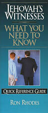 Jehovah's Witnesses: What You Need to Know, Ron Rhodes