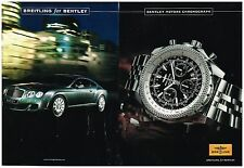 Publicité Advertising 2008 (2 pages) Montre Breitling for Bentley