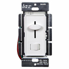 Decorator 59302 LED Light Dimmer Switch for Dimmable 3Way/Single Pole White