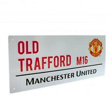 Manchester United FC Decorative Metal Stadium/Street Sign - Official Merchandise