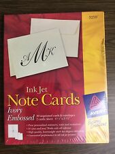avery ink jet note card envelope ivory embossed heavyweight invitation stationer