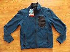 NWT Mens FREE COUNTRY Cold Blue Outerwear Full Zip Fleece Line Sweater Jacket L