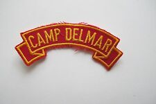 #6757 CAMP DELMAR Word Tag Embroidery Sew On Applique Patch