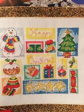 Happy Christmas Sampler Cross Stitch Chart