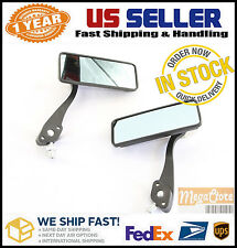 Honda Grom MSX125 Motorcycle Mirrors Rectangular - BLACK with Tinted Glass