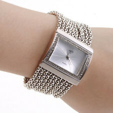 Noble Jewelry Bracelet Watch Women Lady Quartz Wristwatch Vintage Rectangle Dial