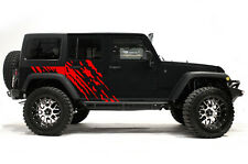 Vinyl Graphics Decal Wrap Kit fits 4-Door 07-16 Jeep Wrangler Rubicon SPLASH Red