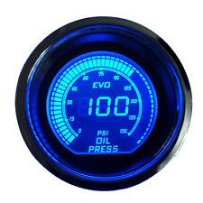 """Smoke Len 2"""" 52mm Blue Red Oil Press Pressure Gauge Meter Car Digital LED Light"""