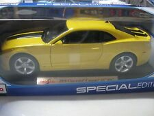 MAISTO 1:18 2010 CHEVY CAMARO SS RS DIECAST YELLOW