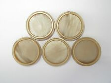 1950s Vintage French Light Brown or Fawn Bakelite Coat Jacket Buttons-Set 23mm
