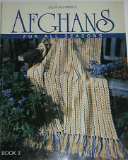 Leisure Arts Crochet Pattern Book AFGHANS FOR ALL SEASONS No 3 ©2002 52 Patterns
