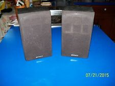 VINTAGE (1980'S) PAIR Optimus XTS 24 Bookshelf Speakers EXC- w/grills 8-Ohm