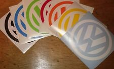 vw logo badge van beetle T4 T5 T25 golf transporter campervan car sticker 110mm