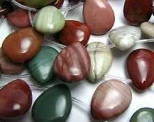 "16"" IMPERIAL JASPER 15x20mm Teardrop Beads"