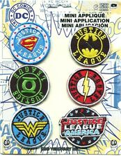 JUSTICE LEAGUE: 6 EMBROIDERED MINI PATCH SET **FREE SHIPPING** -c pdc136s batman
