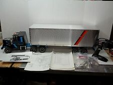 VINTAGE KYOSHO TRACTOR WITH ALUMINUM CONTAINER VAN 1/16 SCALE R/C TAMIYA  1980'S