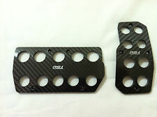 Toyota, Scion Racing Carbon Fiber Automatic Gas/Brake Cover Foot Pedals Pads A/T