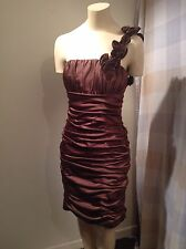 Cachet Rouched One Strap Dress Size 6