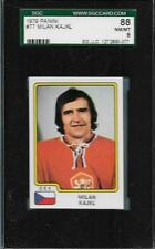 1979 PANINI HOCKEY STICKER CARD CSV MILAN KAJKL #77 SGC GRADED 8 NM-MT STICKER