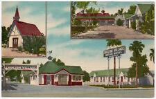 Linen Postcard English Village Motor Hotel in El Centro, California~107866