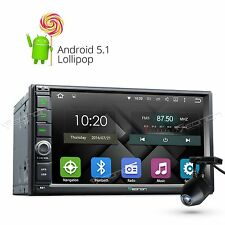 "Dashcam+ Eonon Android 5.1 2 Din 7"" Car Stereo GPS Navigation Bluetooth No-DVD I"