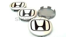 Set 4x69mm honda roue alliage center hub caps argent noir accord civic type des
