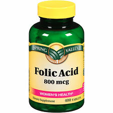 Spring Valley - Folic Acid 800mcg - Women's Health 400 tablets