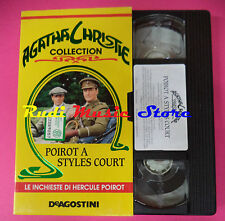 VHS filmPOIROT A STYLES COURT Agatha Christie collection DEAGOSTINI (F88) no dvd