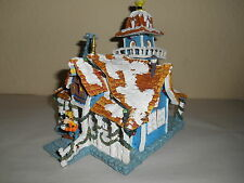 DISNEY Toon Town Goofy Christmas Lighted Village House