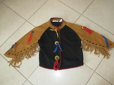 Ladies Michael Simon Black Indian Southwestern Western Cardigan Sweater M-L