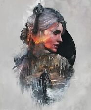 POSTER THE WITCHER 2 3 WILD HUNT WOLF CIRI GERALT OF RIVIA VIDEOGAME FANTASY #26