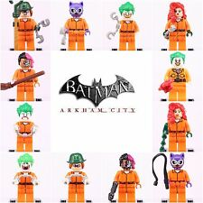 12 Pcs Super Hero Dc comics Arkham Asylum Prison Joker Ivy  minifigure fit Lego