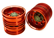 ALL TAMIYA 1/14 TRACTOR TRAILER REAR WHEEL 12MM HEX INTEGY C27023RED