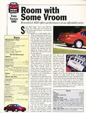 1997 Ford Taurus SHO Original Car Review Print Article J558