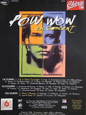 PUBLICITÉ 1993 RADIO CHÉRIE FM POW WOW EN CONCERT - ADVERTISING