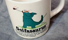 VTG Golfasaurus Coffee Mug Cup Golf Dinosaur Golfer GAG Fathers Day Gift 1986