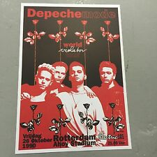 DEPECHE MODE - CONCERT POSTER ROTTERDAM AHOY HOLLAND 26TH OCTOBER 1990 (A3 SIZE)