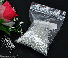 5000 Silver Plated Head Pins Findings 30x0.5mm