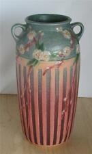 Exceptional 1932 Roseville Pottery Cherry Blossom Vase 627-12  Original Label