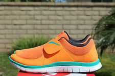 NIKE FREE SOCFLY SZ 13 BRIGHT CITRUS TEAL TOTAL ORANGE ANTHRACITE 724851 800