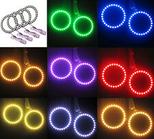 80mm Multi-Color 5050 RGB Flash SMD Led Angel Eyes Halo Rings For BMW E46 E39