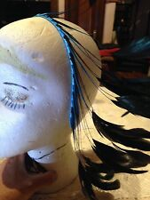 Teal Feather Hair Band Accessory
