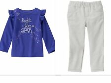 GYMBOREE LAVENDER BUNNY  GIRLS PANTS  OUTFIT NWT SIZE  18-24  MONTHS-