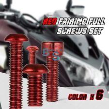 149PCS Red Full Fairing Bolt Set Fasteners Nuts Screws KAWASAKI ZZR600 97-04