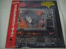 LIZZY BORDEN-Visual Lies JAPAN 1st.Press w/OBI PROMO Iron Maiden Metallica Kiss