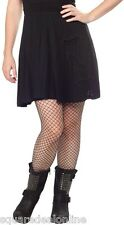 "130455 Black ""Bats in the Belfry Skirt Sourpuss Goth Punk Pinup Dark Large L"
