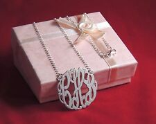 Sterling Silver 1.25″Monogram Necklace Personalized *Limited Time Special Price*