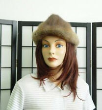 MINT MUSKRAT FUR COWBOY HAT WOMEN SZ. 22.5""