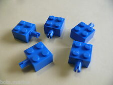 Lego 5 brique bleu a/clip 6985 6973 347 6926 / 5 blue brick modified w/pins